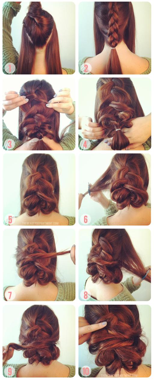 Chignon tresse pour cheveux longs